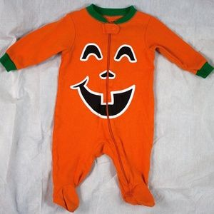 Halloween 0-3 Months Pumpkin Costume Unisex